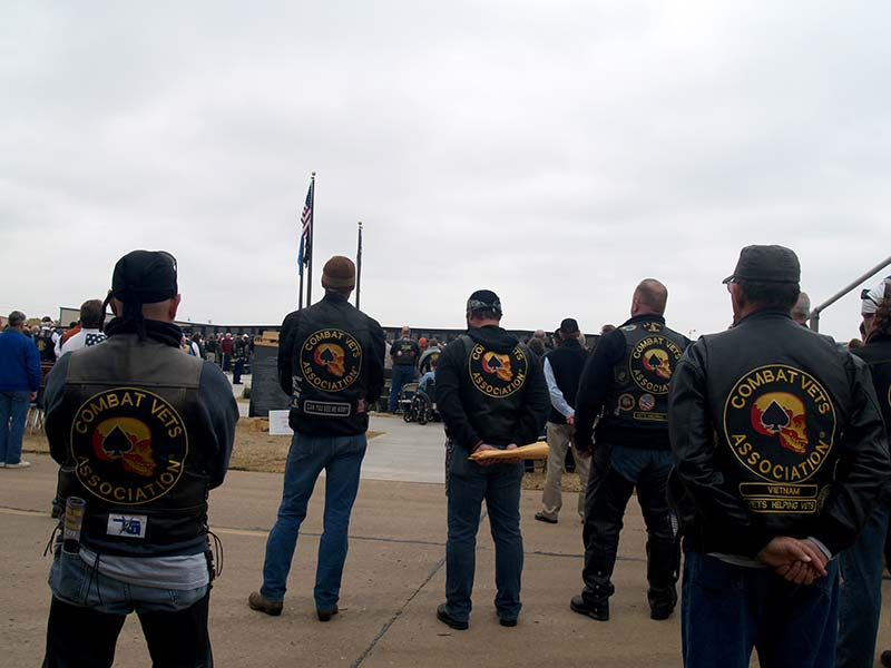 Attendees from the Combat Vets Association