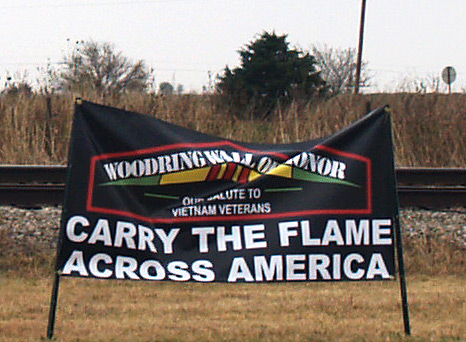 Carry the Flame Across America sponsor banner